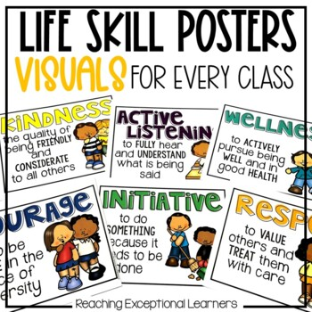 Life Skills Posters for a Special Education & Early Learning Classroom