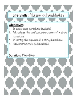 Life Skills: A Lesson on Handshakes