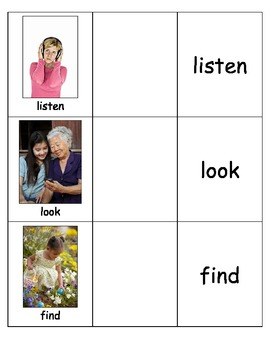 Special Education: Action Words