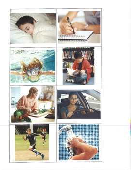 Life Skills- Actions Picture Match (generalizing) file folder game