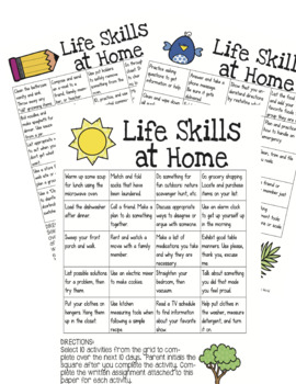 Life Skills Activities for Completing at Home