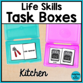 Life Skills Activities for Special Education - Kitchen Task Boxes