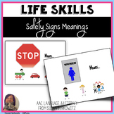 Language Activity Safety Signs Meanings Speech Therapy BOO