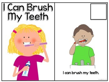 Life Skills Adapted Social Story: I Can Brush My Teeth