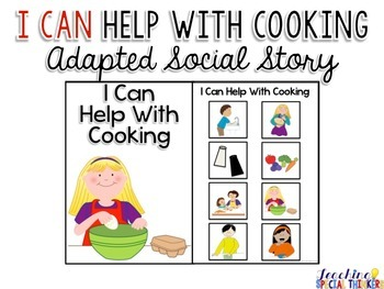 Life Skills Adapted Social Story: I Can Help With Cooking