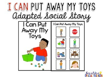 Life Skills Adapted Social Story: I Can Put Away My Toys