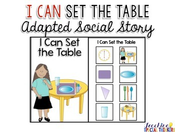 Life Skills Adapted Social Story: I Can Set the Table