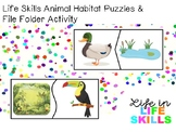Life Skills Animal Habitat Puzzles & File Folder Activity