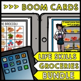 Life Skills - BOOM CARDS - Grocery Shopping - Special Educ