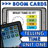 Life Skills - BOOM CARDS - Telling Time - Special Education - Unit One