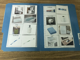 Life Skills- Bathroom Things Picture Match (generalizing) file folder game