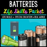 Life Skills - Batteries - Special Education - Electric - Task Cards - Reading