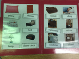 Life Skills- Bedroom Vocabulary Words (match word to pic) File Folder Game