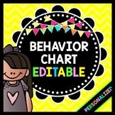 Life Skills Behavior Management: EDITABLE Behavior Chart with Behavior Anchors