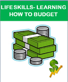 Budgeting and Basic Financial Responsibility, lesson, budgeting activity