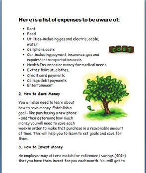 Budgeting and Basic Financial Responsibility, 2 budgeting activities