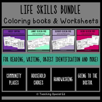 Life Skills Bundle - Coloring Book & Worksheets