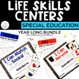 Life Skills Centers: Year Long for Special Education (Set 1)