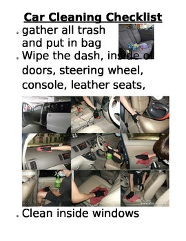 Life Skills: Checklist Cleaning a Car