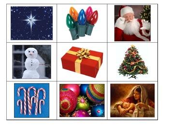 Special Education: Christmas Bingo - Simple