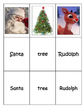 Special Education: Christmas Words