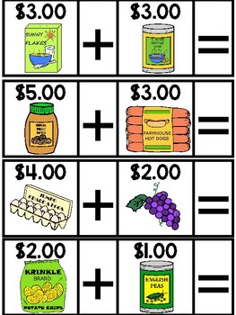 Life Skills Classroom Grocery Math Practice