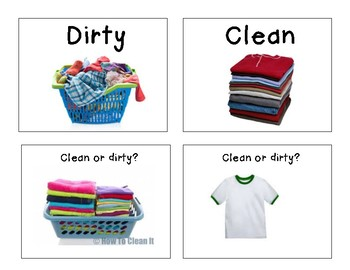 life skills clean or dirty laundry sort activity by catalina kazas. Black Bedroom Furniture Sets. Home Design Ideas