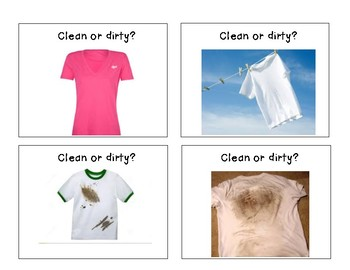 Life Skills Clean or Dirty Laundry Sort Activity