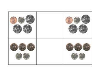 Life Skills: Coin Set Match