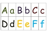 Special Education: Color Coded Alphabet Match - Lower case & Upper Case