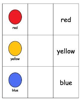 Special Education: Color Words
