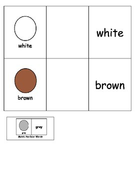 Special Education: Color Words
