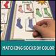 Life Skills- Colors File Folder Activity: Matching Socks on the Line