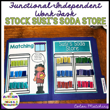 Life Skills- Colors File Folder Activity: Stocking Soda Cans