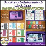Life Skills Colors File Folder Activity - Task Cards: Matching Baseball Uniforms