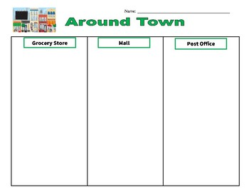 Life Skills: Community Places Sorting Activity