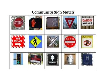 Life Skills Community Signs Activity Book
