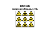Life Skills Community Signs Activity Book