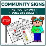 Life Skills Community Signs Instruction Unit