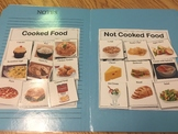 Life Skills: Cooked vs. Uncooked Food Sort File Folder Game