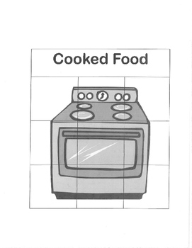 Life Skills: Cooked vs. Uncooked Food Sort File Folder Game