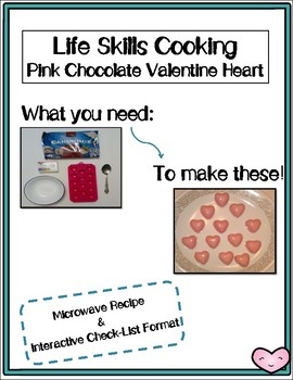 Life Skills Cooking Chocolate Valentine's Hearts