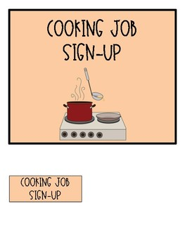 Life Skills Cooking Jobs for a Special Education Classroom