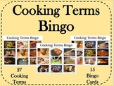 Life Skills - Cooking Terms Bingo