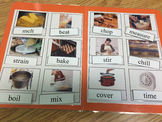 Life Skills: Cooking Vocabulary (word to picture match) File Folder Game