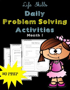 Life Skills Daily Problem Solving Worksheets