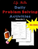 Life Skills Daily Problem Solving Worksheets Month 3
