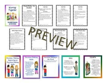 Life Skills:Decisions, Goals, Conflict Resolution,Organization & Teamwork Bundle