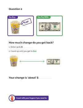 Life Skills – Dollar Up Change Tiered Worksheets