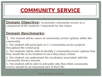 Life Skills Domains, Benchmarks, and Activities